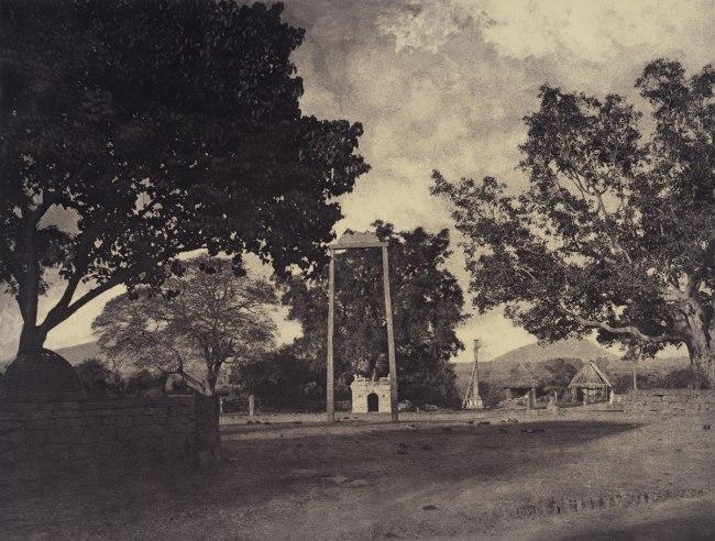 Linnaeus Tripe. 'Beekinpully: Permaul's Swing at Mariammah Covil, December 1857 - January 1858'