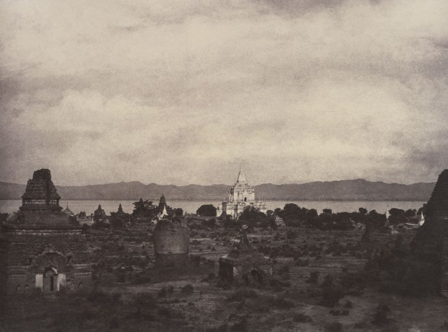 Linnaeus Tripe. 'Pugahm Myo: Distant View of Gauda-palen Pagoda, August 20-24, 1855' 1855