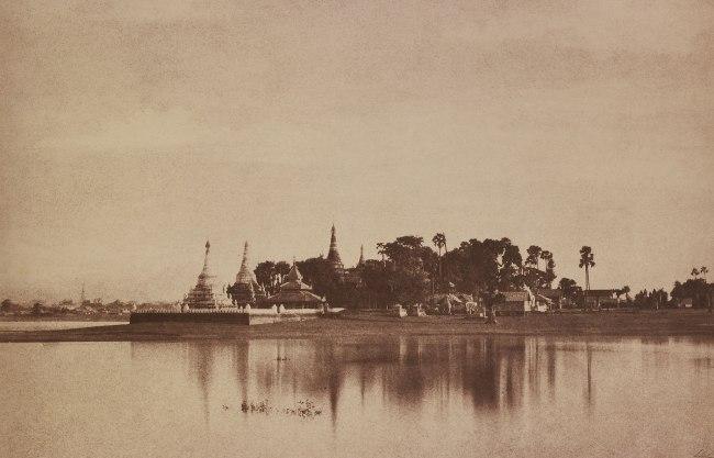 Linnaeus Tripe. 'Amerapoora: View on the Lake, September 1 - October 21, 1855' 1855