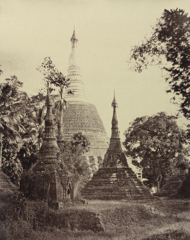 Linnaeus Tripe. 'Rangoon: Near View of the Shwe Dagon Pagoda, November 1855' 1855