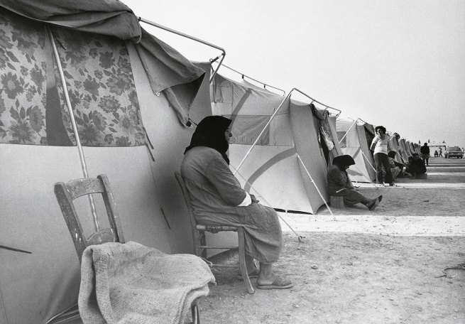 Jean Mohr. 'A camp of 300 tents for 1,400 refugees, Lefkaritis, near Lamaca, Cyprus, 1974'
