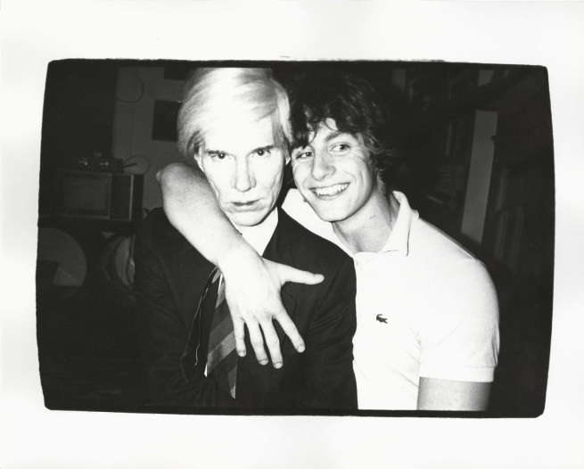 Andy Warhol. 'Andy Warhol and Friend' c. 1979