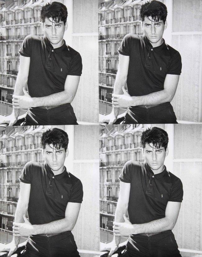 Andy Warhol. 'Young Man in Paris' c. 1977