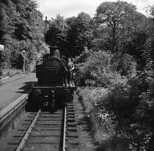 Anonymous photographer. 'Colinton Station with guard on loco' mid-1950s to the early 1960s