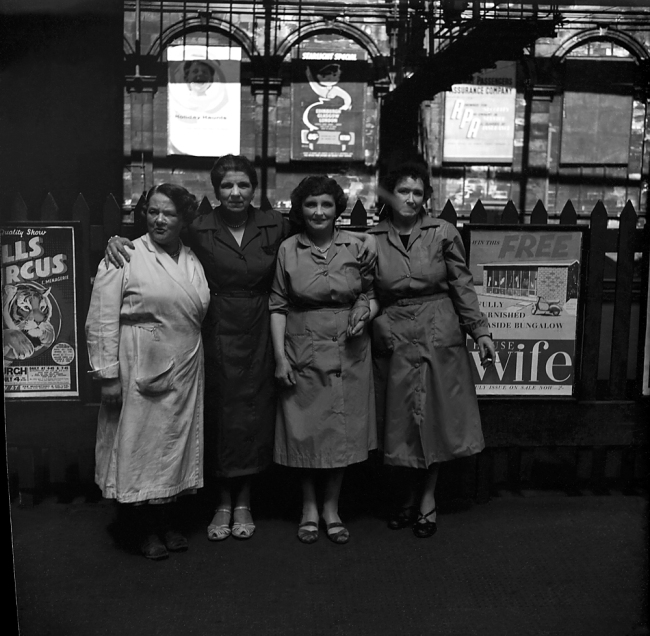 Anonymous photographer. 'Women workers in front of posters' mid-1950s to the early 1960s