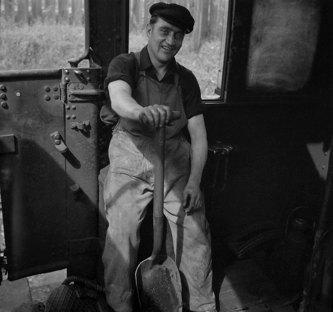 Anonymous photographer. 'A smiling fireman' mid-1950s to the early 1960s