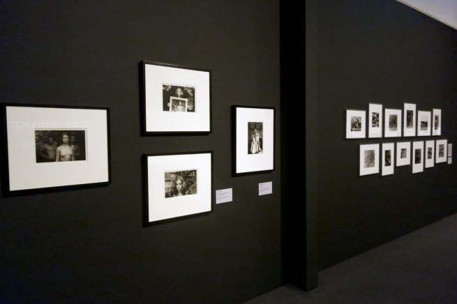 Installation view of four Carol Jerrems photographs with 'Vale Street' (1975) at left