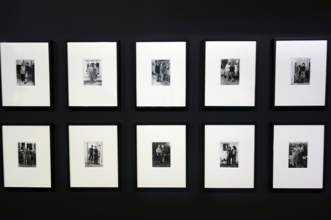 Installation view of Ponch Hawkes series 'Our mums and us' at the exhibition 'Photography Meets Feminism'