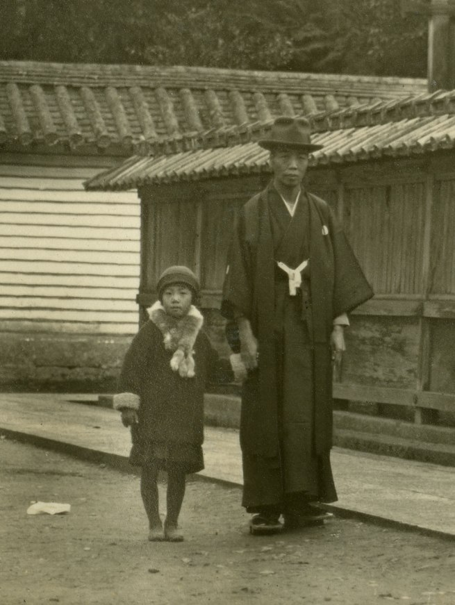 Anonymous Untitled [Father with his daughter] from a Japanese family photography album c. 1920-30s (detail)