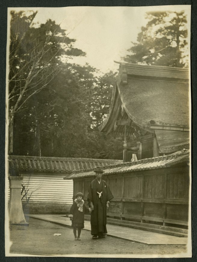 Anonymous. 'Untitled [Father with his daughter]' from a Japanese family photography album c. 1920-30s