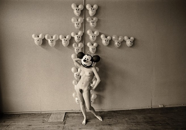 Les Krims. 'The Static Electric Effect of Minnie Mouse on Mickey Mouse Balloons' 1968