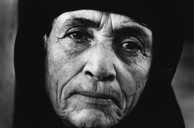 Jean Mohr. 'Portrait of a Greek refugee, Larnaca, Cyprus, 1976'