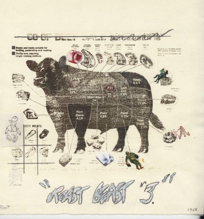 Robert Fichter. 'Roast Beast 3' 1968