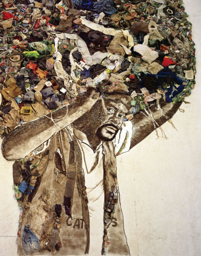 Vik Muniz. 'Atlas (Carlao)' 2008