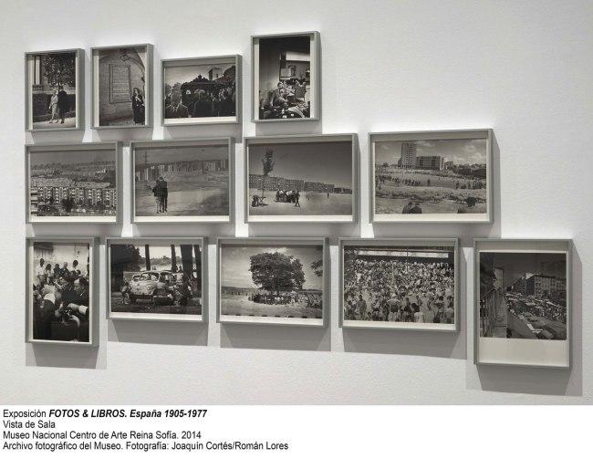Installation photographs of the exhibition 'photobooks. Spain 1905-1977' at the Museo Nacional Centro de Art Renia Sofia