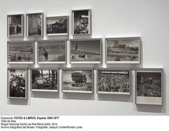 Installation photographs of the exhibition 'photobooks. Spain 1905-1977' at the Museo Nacional Centro de Art Renia Sofia