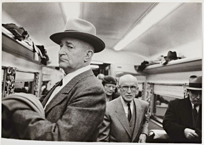 Robert Frank (U.S.A., b. Switzerland 1924) 'En route from New York to Washington, Club Car' 1954