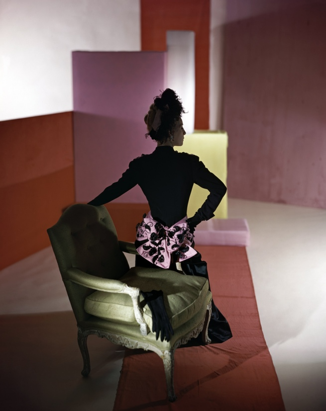 Horst P. Horst. 'Dinner suit and headdress by Schiaparelli' 1947
