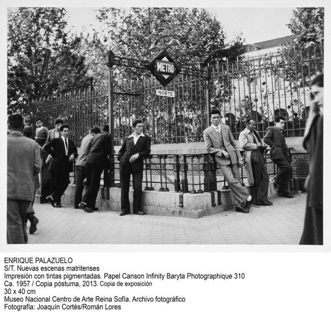 Enrique Palazuelo. S/T. Nuevas escenas matritenses, ca. 1957 / copia póstuma, 2013. Copia de exposición