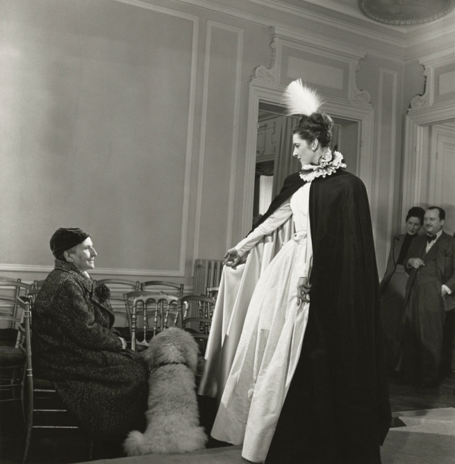 Horst P. Horst. 'Gertrude Stein at Balmain Fashion Show' 1946