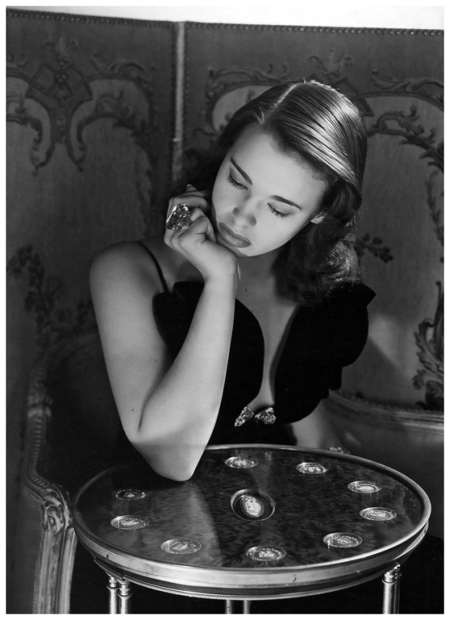 Horst P. Horst. 'Gloria Vanderbilt age 17 wearing a dress by Howard Greer, New York' 1941