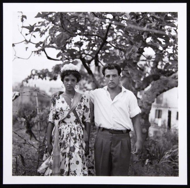 Colita (Isabel Steva Hernández). 'Novios gitanos. Barcelona' (Gypsy Couple. Barcelona) 1962 / Later print, 2011