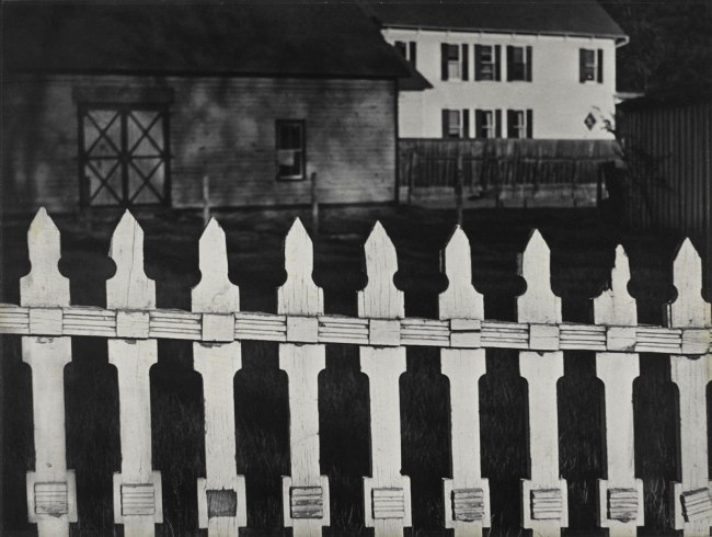 Paul Strand. 'White Fence, Port Kent, New York' 1916 (negative); 1945 (print)