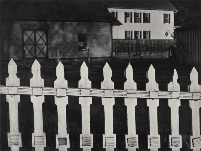 Paul Strand. 'White Fence, Port Kent, New York' 1916 (negative); 1945 (print)