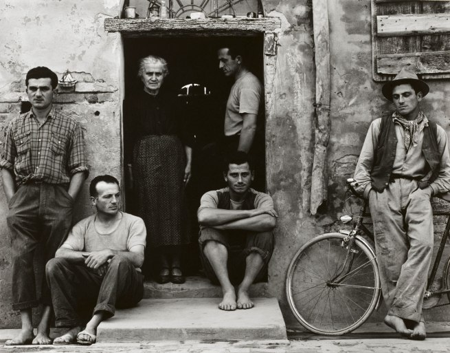 Paul Strand. 'The Family, Luzzara (The Lusettis)' 1953 (negative); mid- to late 1960s (print)