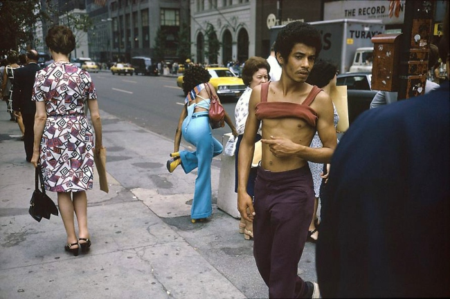 Joel Meyerowitz. 'New York City, 42nd and Fifth Ave' 1974