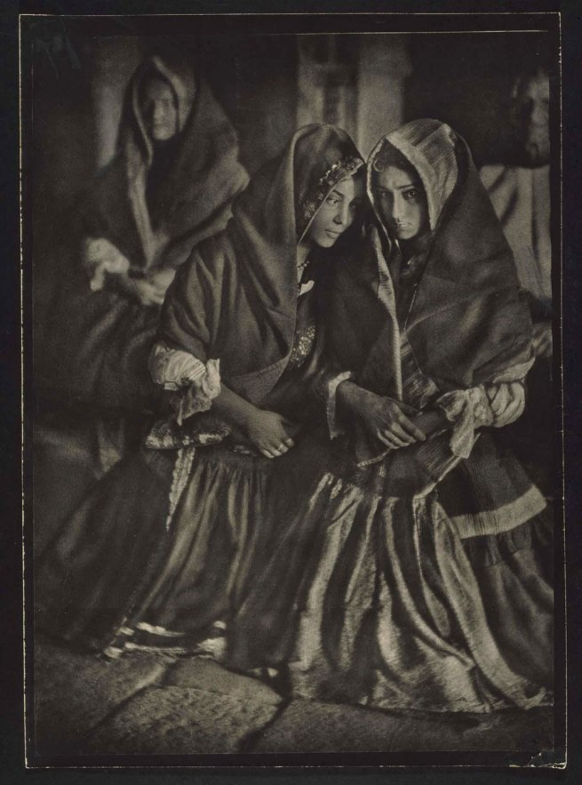 José Ortiz Echagüe Puertas (Guadalajara, Spain, 1886 - Madrid, Spain, 1980) 'Lagarteranas en misa' (Women of Lagartera at Mass) 1920-1923 (circa)