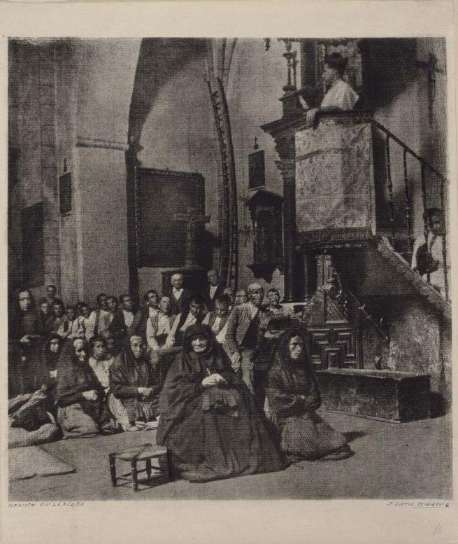 José Ortiz Echagüe Puertas. 'Sermón en la aldea' (Village Sermon) 1903