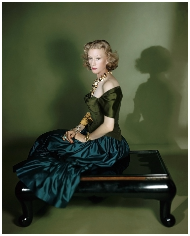Horst P. Horst. 'Millicent Rogers in a Charles James gown and a gold necklace of her own design' Vogue, February 1, 1949