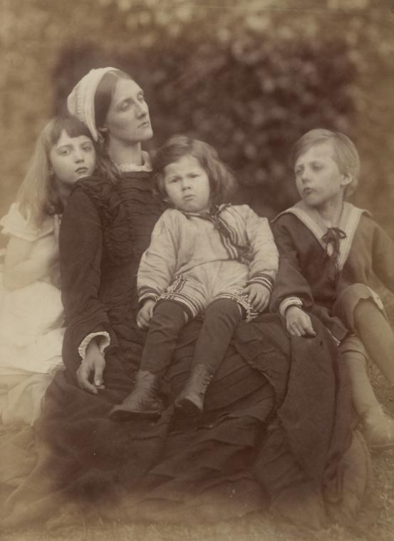 Julia Margaret Cameron. 'Mrs Herbert Duckworth, her son George, Florence Fisher and H. A. L. Fisher' c. 1871