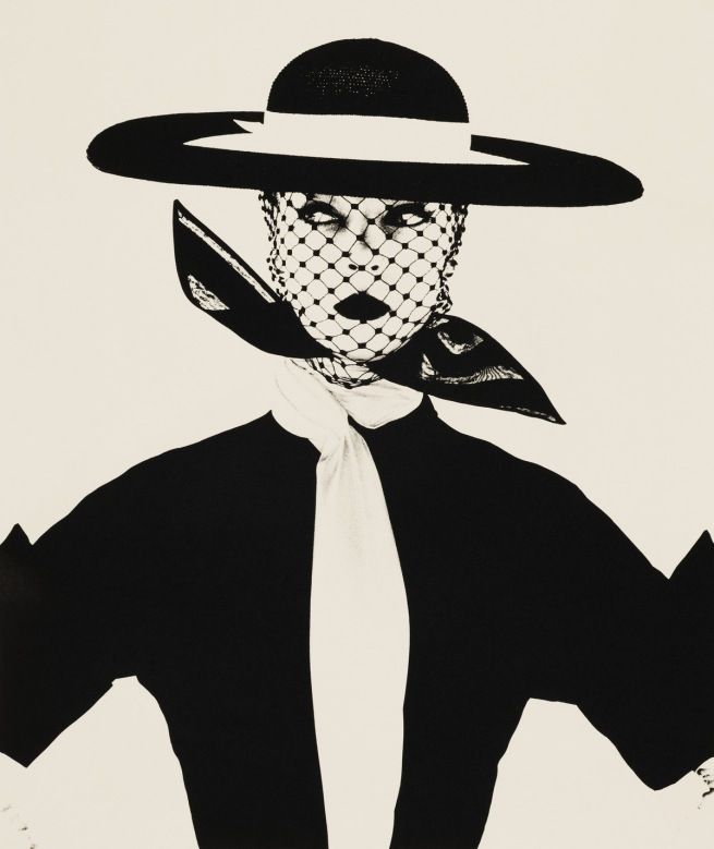 Irving Penn. 'Black and White Vogue Cover (Jean Patchett)' New York, 1950