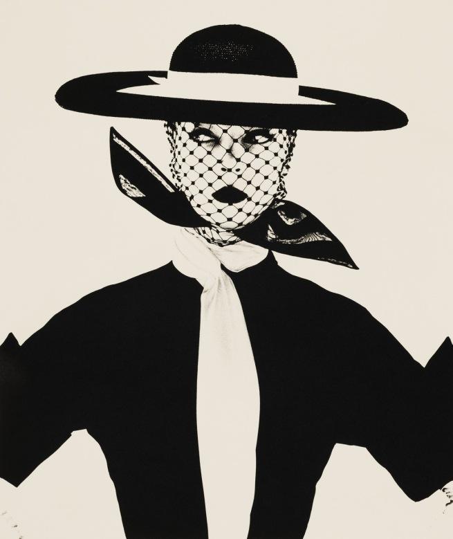Irving Penn. 'Black and White Vogue Cover (Jean Patchett)' New York, 1950