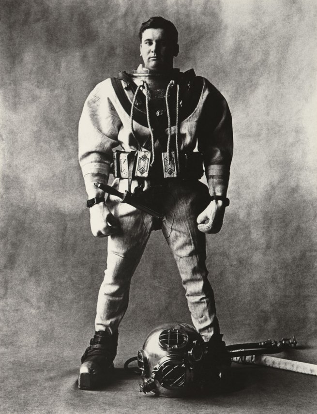 Irving Penn. 'Deep-Sea Diver (C)' New York, 1951