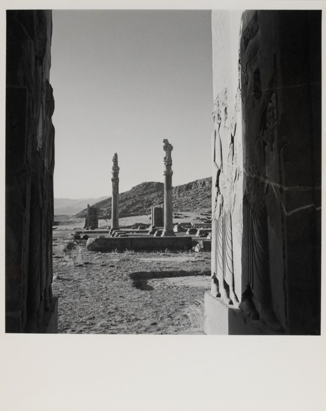 Horst P. Horst. 'View of ruins at the palace of Persepolis, Persia' 1949