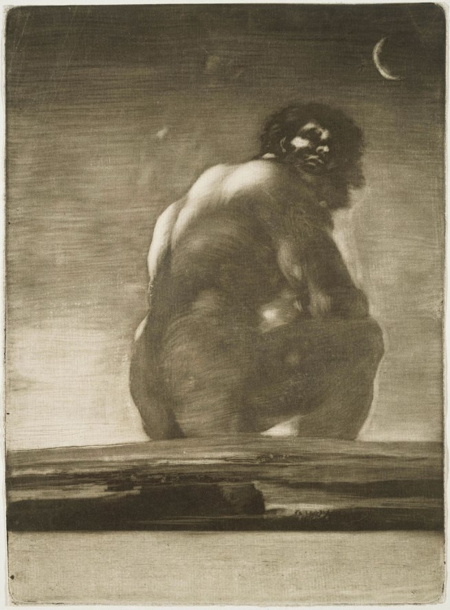 Francisco Goya (Spanish, 1746–1828) 'Seated Giant' by 1818