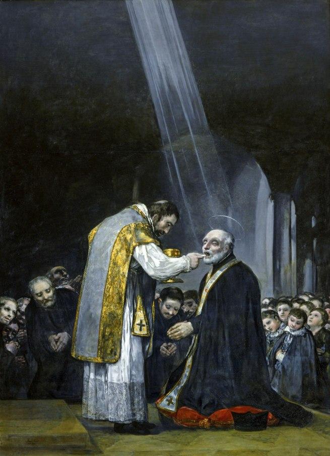 Francisco Goya (Spanish, 1746-1828) 'Last Communion of Saint Joseph of Calasanz' 1819