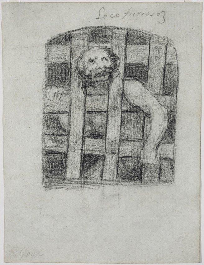 Francisco Goya (Spanish, 1746–1828) 'Raging Lunatic (Loco furioso), Bordeaux Album I, G, 3[4?]' 1824–28