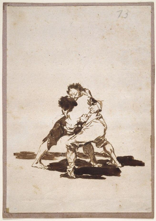 Francisco Goya (Spanish, 1746-1828) 'Two Men Fighting', Album F, 73 1812-20