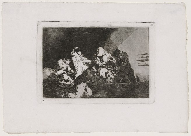 Francisco Goya (Spanish, 1746–1828) 'One Can't Look (No se puede mirar), Disasters of War 26' c. 1811–12