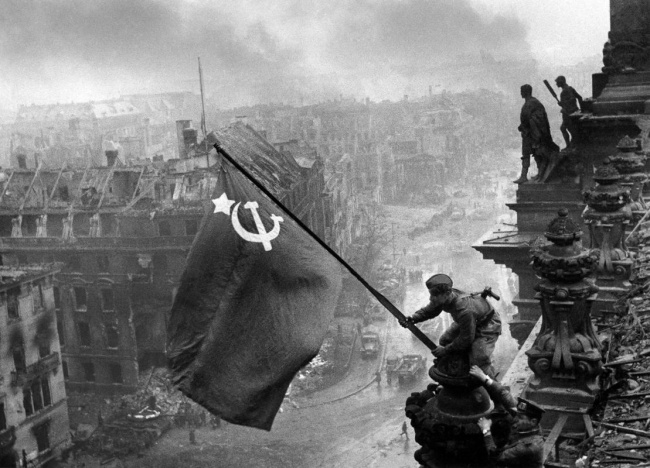 Evgeny Khaldey. 'The Flag of Victory' 1945