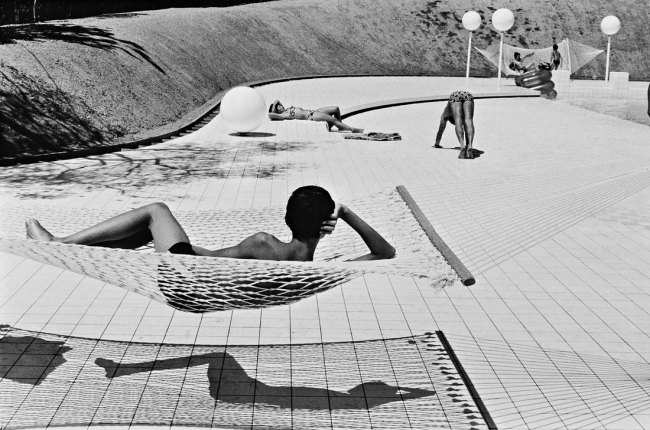 Martine Franck. 'Swimming pool designed by Alain Capeilières' 1976
