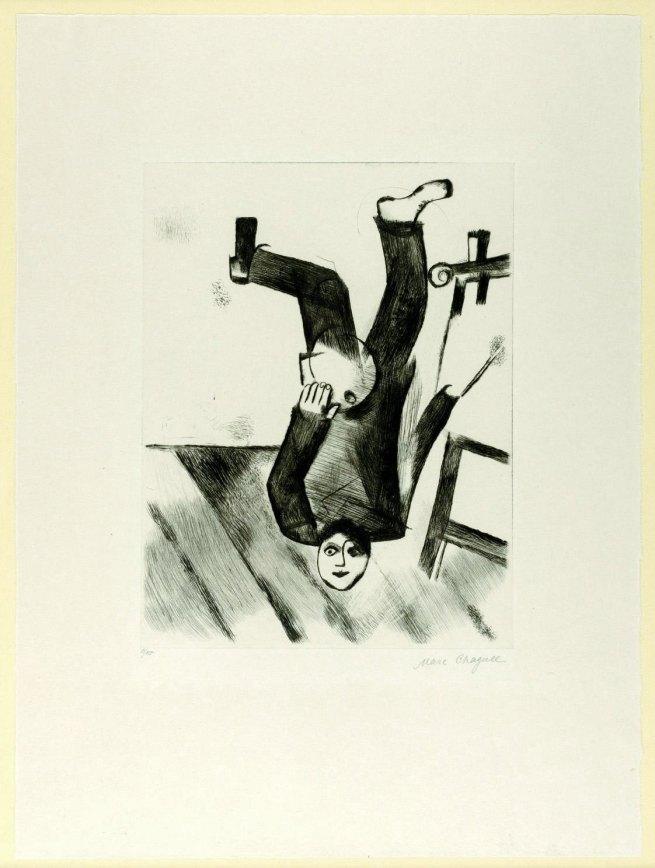 """Marc Chagall. 'Al Cavalletto (tavola 18 di """"Ma Vie"""")' 1922"""