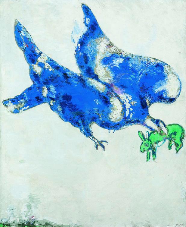 Marc Chagall. 'L'aquila e lo scarabeo' 1926