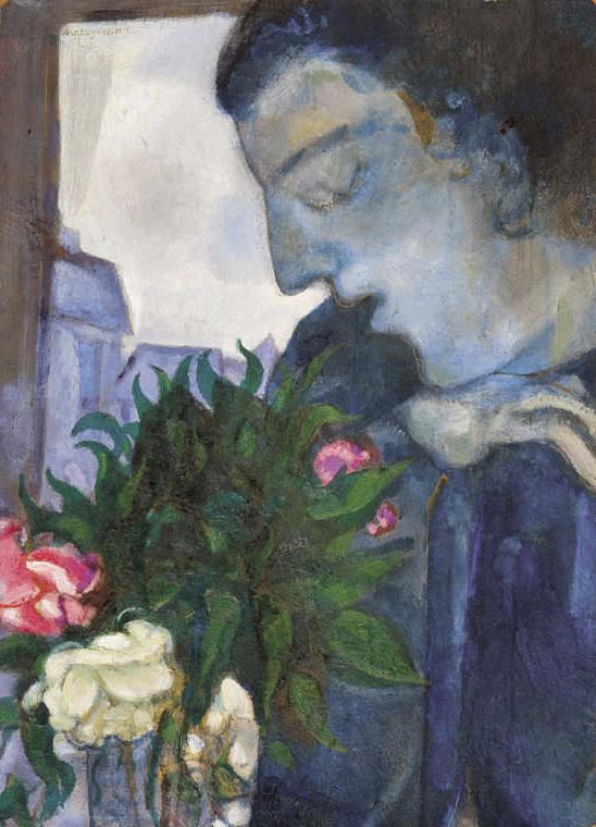 Marc Chagall. 'Self-portrait in profile' 1914