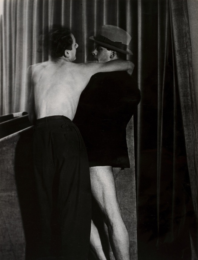 Brassaï (French, 1899-1984) 'Young Couple Wearing a Two-in-One Suit at the Bal de la Montagne Sainte-Geneviève' 1931