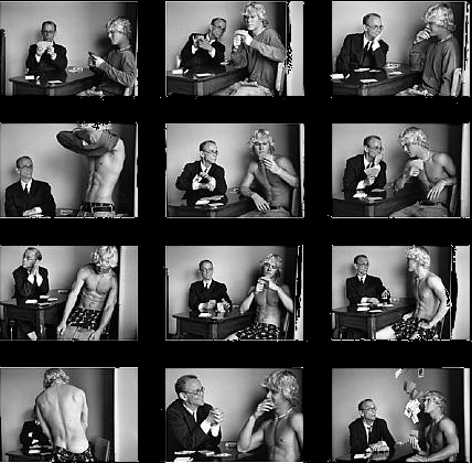 Duane Michals. 'Cavafy Cheats Playing Strip Poker' 2004